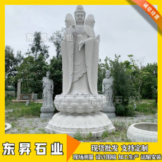 石雕三面觀音 石雕觀音像 寺廟觀音佛像石雕
