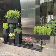 戶外不銹鋼花盆花缽 方形不銹鋼花箱定制