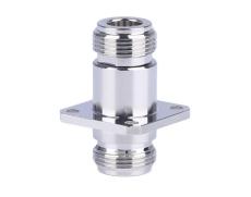 四孔法兰固定N-KFK连接器 螺纹RF射频连接器