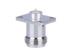 四孔法兰固定N-KFD-Z连接器 铍青铜RF同轴