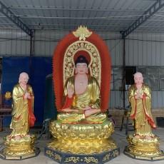 三世佛佛像廠家 三寶佛佛像圖片 樹脂神像