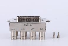 光端机接头 多型号DB25P-8G 8孔视频插座