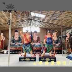 寺院門神佛像哼哈二將佛像圖片四大金剛羅漢