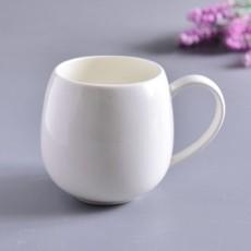 达美瓷业简约大容量马克杯骨质瓷大肚杯