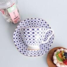 达美瓷业金边骨瓷咖啡杯碟套装