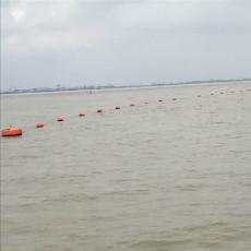 水面紅色警戒線浮筒塑料抬纜浮施工安裝