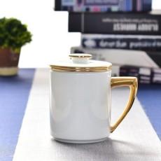 达美瓷业 大容量茶水分离杯