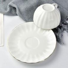 达美瓷业金边南瓜咖啡杯碟套装