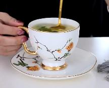 陶瓷下午茶水杯套裝定制歐式骨瓷商務禮品咖