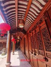 江西文青廠家直供大型古建長廊 風雨長廊