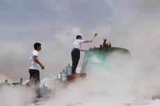 消防常用的大型煙霧發生器 瞬間釋放大量白