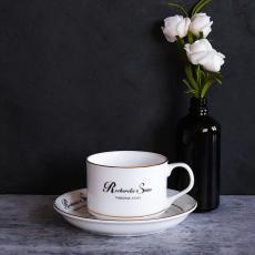 歐式陶瓷咖啡杯套裝 金邊陶瓷奶茶杯酒