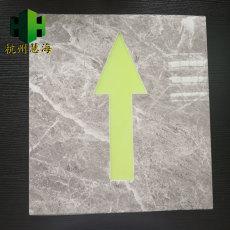 杭州慧海自发光疏散瓷砖指示箭头 夜光地砖
