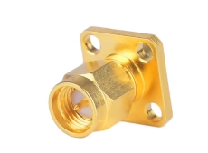 SMA-KFD95印制線路板四孔法蘭連接器  鍍金