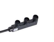 LED路燈模組分支線 M18防水連接器 一分三