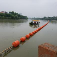 庫區傾斜式攔漂系統水面垃圾攔污浮排造價