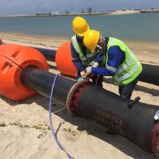 河道疏浚清淤浮體塑料管道浮筒制造商