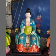太元圣母塑像 東王公佛像 西王母 寺廟佛像