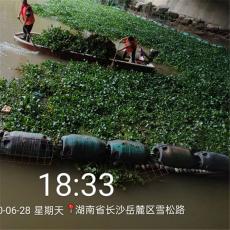 汉江漂浮物拦污塑料浮筒滑动式拦漂装置