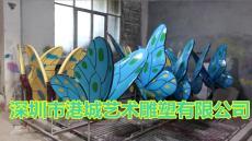 桂林觀光旅游區仿真昆蟲玻璃鋼蝴蝶雕塑廠家
