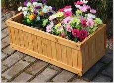蘭州戶外防腐木花箱木質花盆訂做款式多