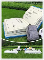 校园草坪雕塑足球书包书本雕塑摆件