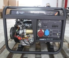 萨登7KW小型开架式汽油发电机便携式
