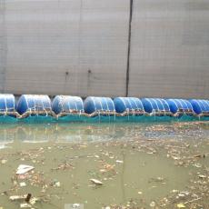 湖面浒苔拦截网外挂式拦污排施工方案