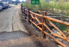 溪谷园林精心打造湖南武冈云山仿木栏杆项目