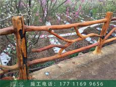 江西赣州仿木栏杆施工队 欢迎定制