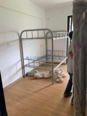 佛山工地宿舍鐵架床雙層鐵架床定做公寓床廠
