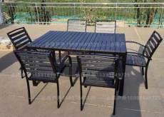 西安户外桌子椅子 铸铝休闲桌椅 藤编桌椅