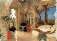 溶洞造型裝修 水泥溶洞酒店洞穴房民宿施工