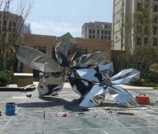 鎮江園林造景不銹鋼鏡面抽象雕塑系列