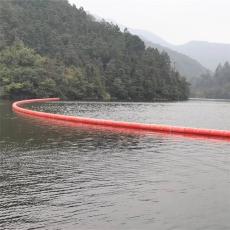 壩式水電站攔垃圾浮筒布置及安裝圖