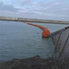 固滴水电站进水渠浮式拦污排设计安装