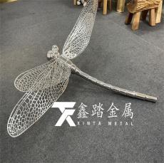 不锈钢蜻蜓雕塑园林景观摆件装饰栩栩如生