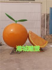 赣州脐橙基地标识玻璃钢橙子雕塑零售价格厂