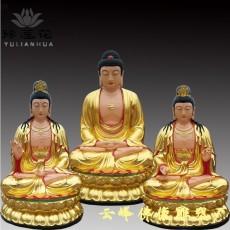 日月观音菩萨佛像 带背光日月佛雕塑