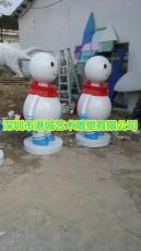 樓盤裝飾卡通圣誕節動漫玻璃鋼小雪人雕塑報