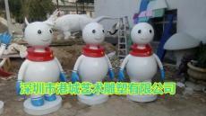 圣誕節安全可靠玻璃鋼卡通小雪人雕塑廠家是