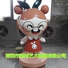 新出卡通玻璃鋼水果娃娃雕塑造型定制價格