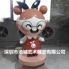 深圳商場圣誕節裝飾水果娃娃公仔雕塑定制價