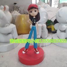 廣州卡通玻璃鋼小女孩公仔雕像報價