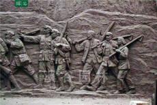 紅旗雕塑-軍人雕塑-水泥雕塑-黨建浮雕