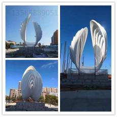 廣場安裝花貝貝殼雕塑不銹鋼鏤空貝殼定制