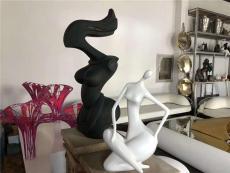 不銹鋼鏡面抽象半身人雕塑室內外工藝品擺件