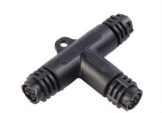 T头三通M19防水连接器 可定制 工业电源插座