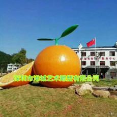 果園合作社標識玻璃鋼砂糖橘雕塑定制廠家