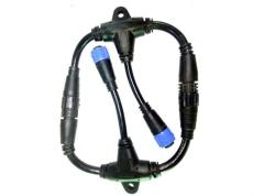 供應M19-T型防水連接線 尼龍塑料成型電源線